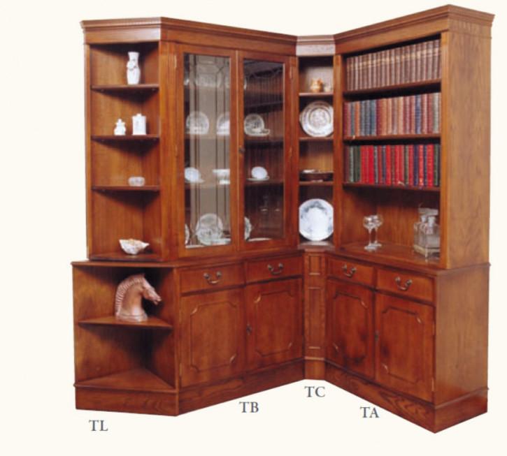 Bücherregal Eckelement in Mahagoni