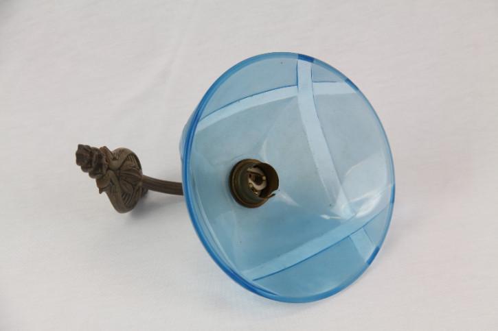 Wandlampe Blau antik Art deco