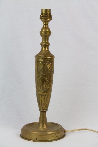 Goldfarbene Tischlampe Fuss france antik
