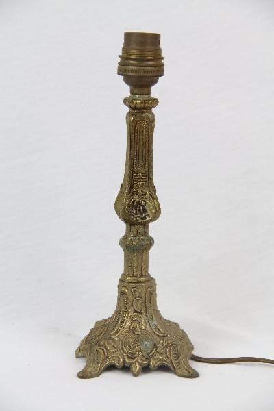 Kleine Tischlampe Messingfuss Antik france