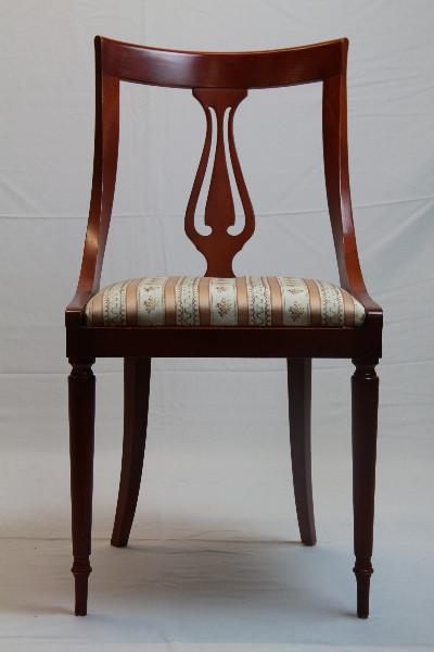 Mahgoni Stühle 6er Satz feiner neuer Bezug Patina
