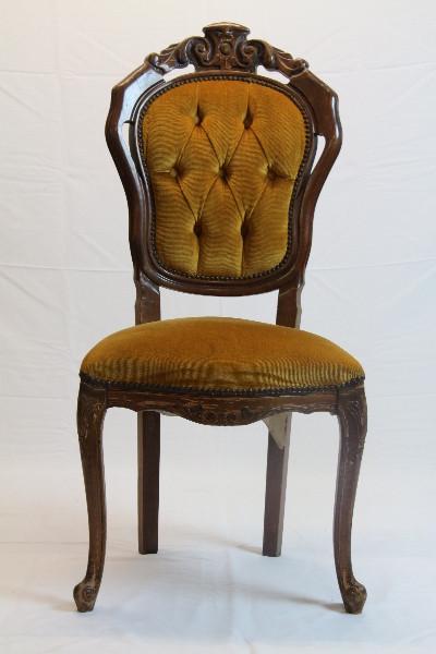Stühle gold gepolstert 4er satz im Neobarockem Stil