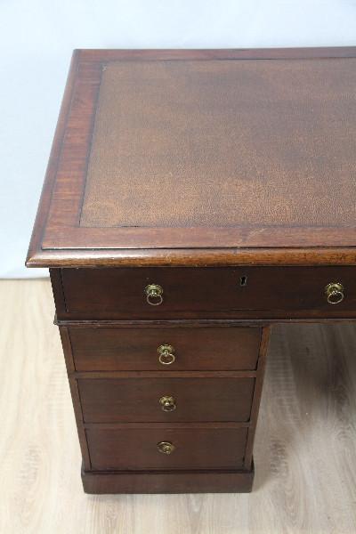 Mahagoni Schreibtisch Original Victoriansich 1880 Massivholz