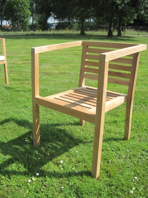 Teak Stuhl - Stacking chair Miles