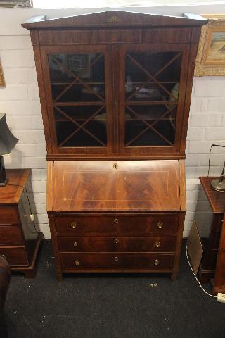 Bürobookcase Mahagoni 1840  Victorian