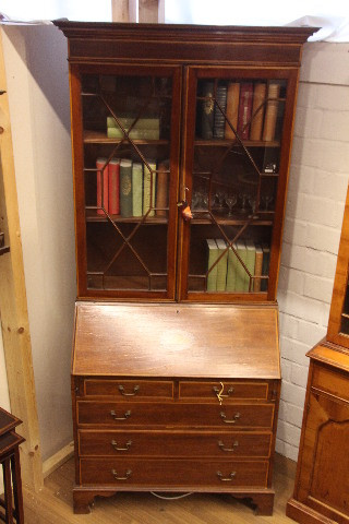 Büro bookcase  Mahagoni Aufsatzsekretär
