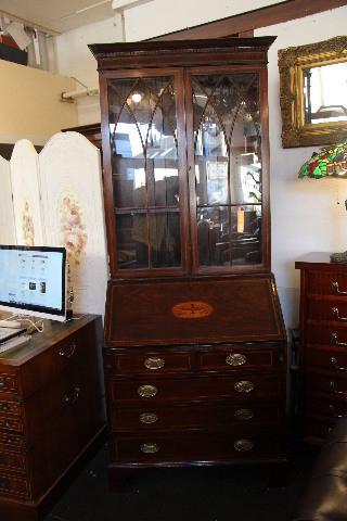 Victorianische Bürobookcase Aufsatzsekretär von 1860