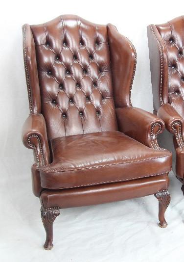 Chesterfield Chair  Vintage Mahagoni gut erhalten