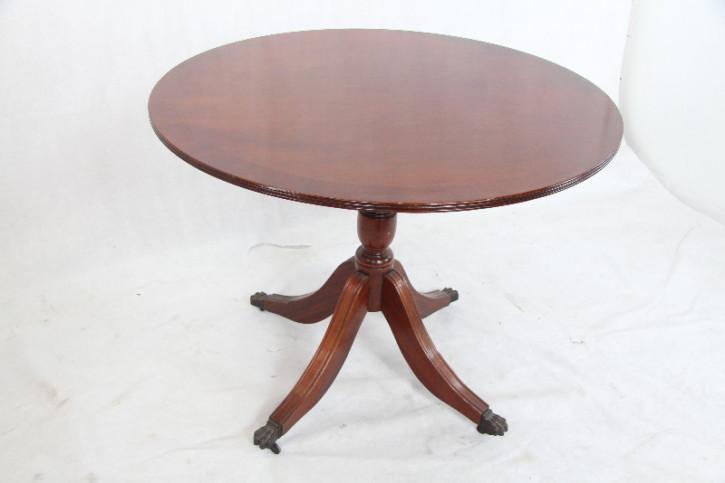 massiver mahagoni Tisch rund handpolitur