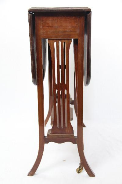 Edwardianischer Mahagoni  Sutherland Beistelltisch 1920