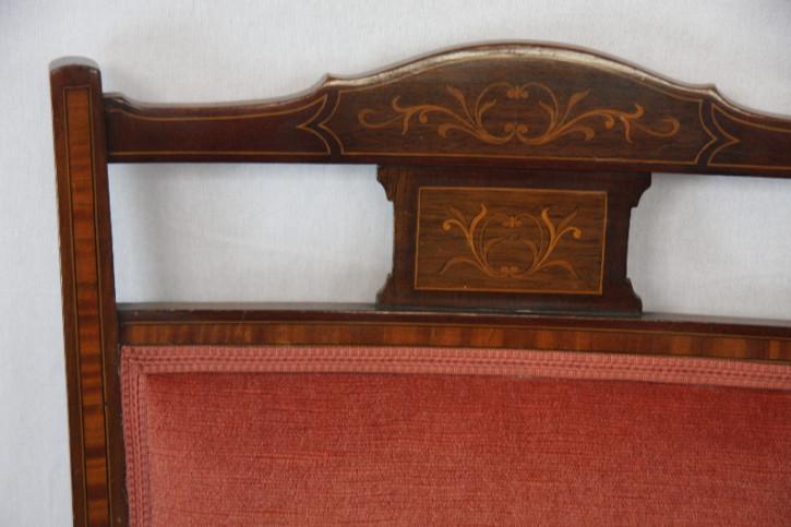 Bank und 2 Armchairs Edwardian Sofa und 2Sessel