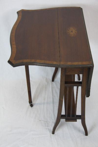 Sutherland  Edwardian Beistelltisch Original massiv Mahagoni