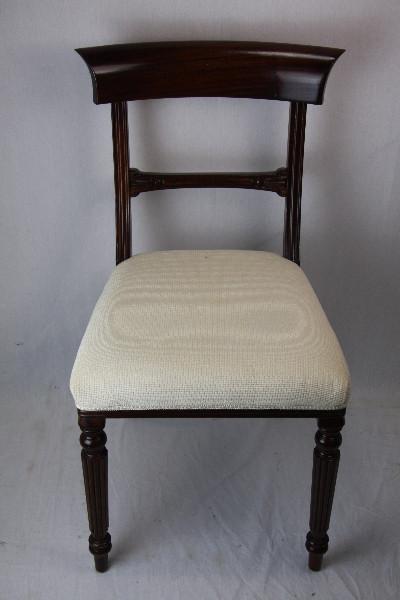 Stuhl weiss Bezug  Mahagoni Klassikchair victorian style