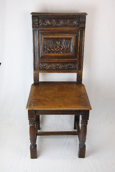 Stuhl 4er Satz Georgian set of chairs massiv Eiche