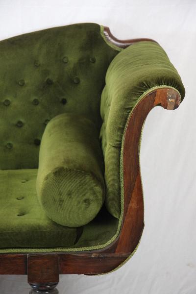 Chaisew longue + Stuhl  antik england 1860