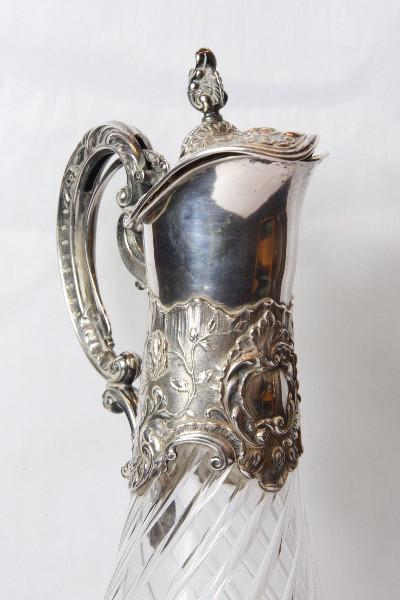 Karaffe  Kristal England Platet versilberet