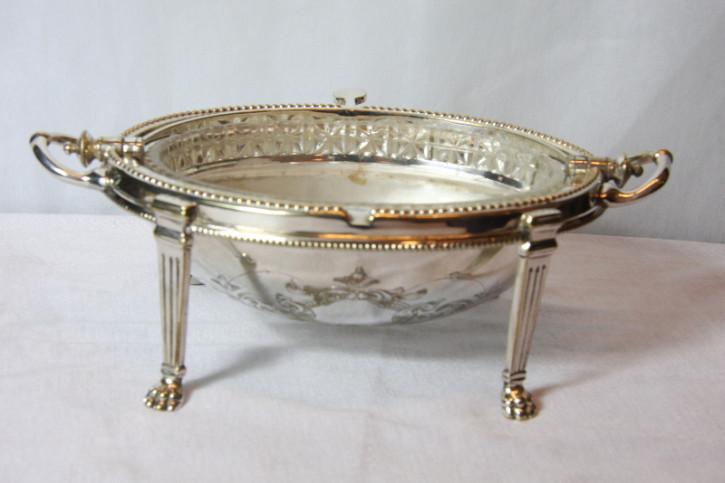 Dinnerbowl Caviarschale Platet versilbert England