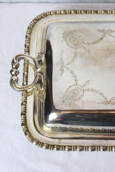 Schüssel mit deckel Platet  versilber England  1910