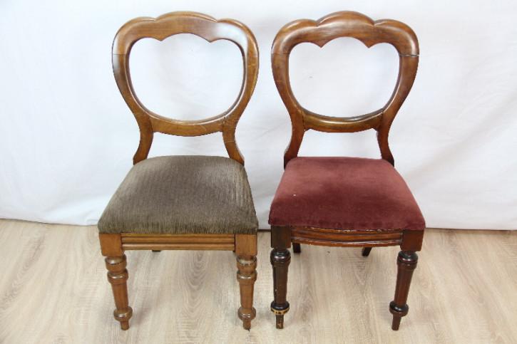 2er Satz Stühle  Ballonback Victorian  Esszimmerstühle
