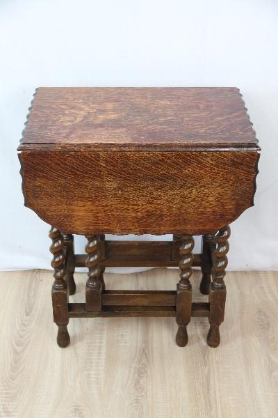 Gateleg Table Klassik Massiv eiche gedrechselt Original