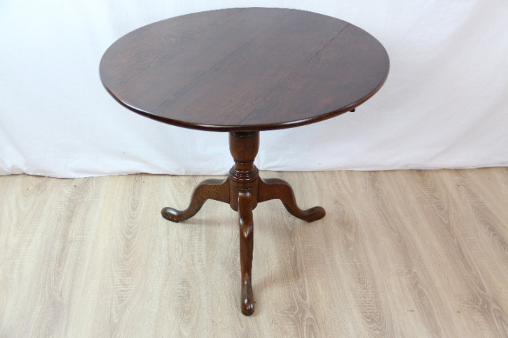 Tisch Rund Triport table Eiche victorian 1860
