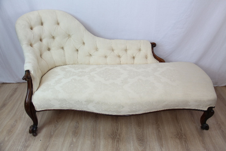 Chaise Loungue original victorian 1860 Massivmahagoni