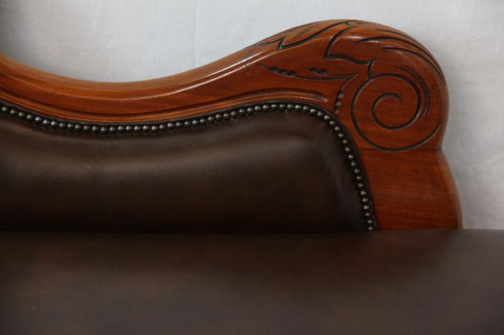 Chaiselongue  Victorian Original Massivmahagoni