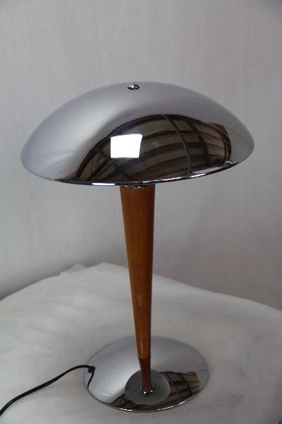 Silberne Tischlampe Art Deco France