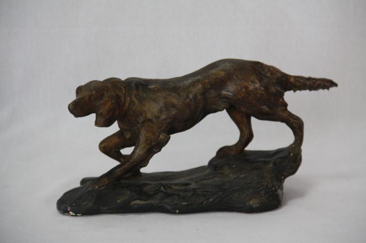 Hund figur France Antik Plaster