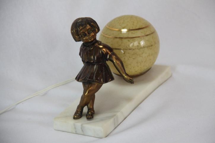 Mädchen Lampe Art Deco france  original