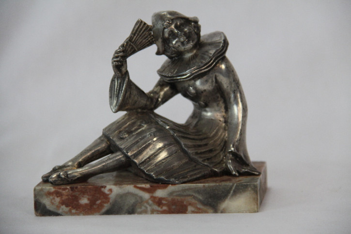 Clown Figur France Art Deco Original
