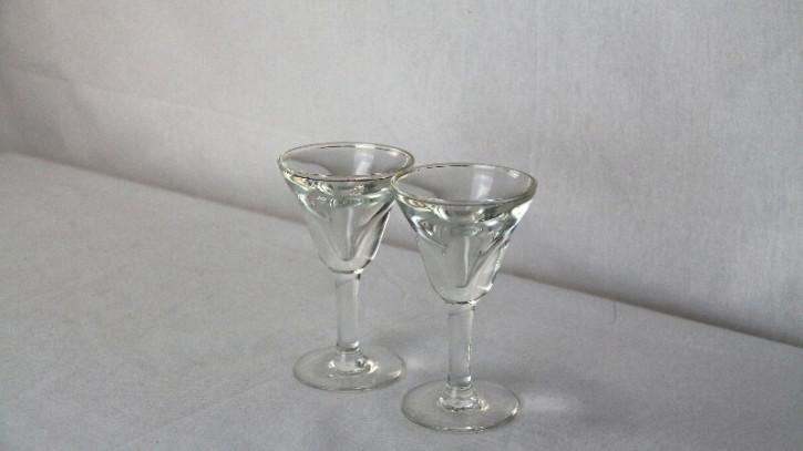Gläser Paar Antikes glas France 1890