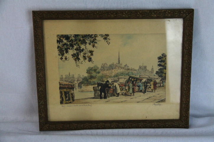 Bild Litho France signiert Original