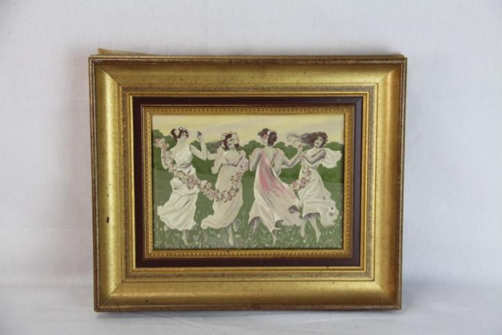 Bild tanzende Mädchen France Goldrahmen
