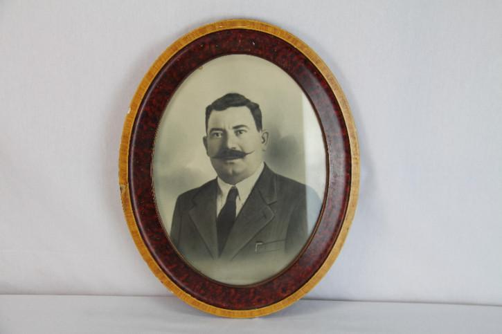 Bild Rahmen Oval antik Platre auf Holz 1910 France