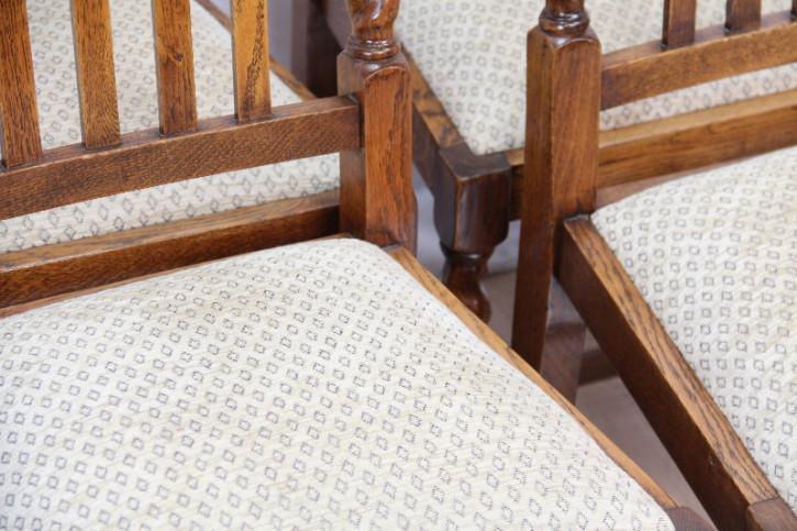 4er Satz Stühle Landhausstühle Massive Eiche