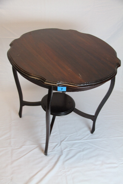 Tisch  Massiv Mahagoni Blattform Original