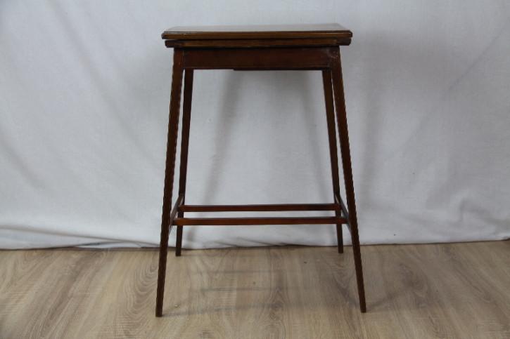 Spieltisch Cardtable edwardian Original Intarsien