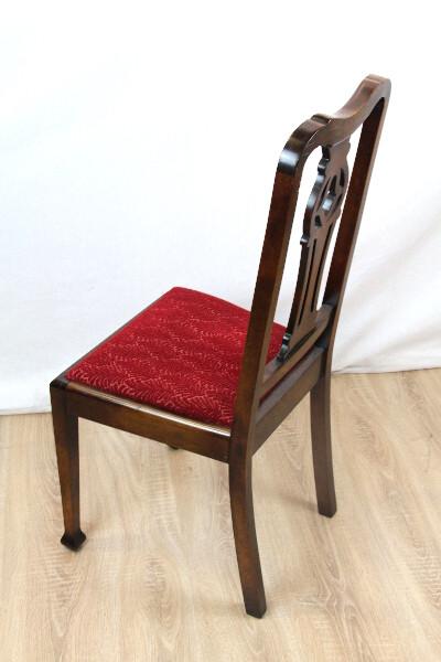 4er Satz Stühle Georgean Style MassivholzStühle Mahagoni