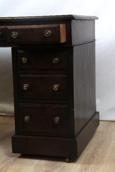 Schreibtisch Mahagoni victorian handpolier Lederfläche