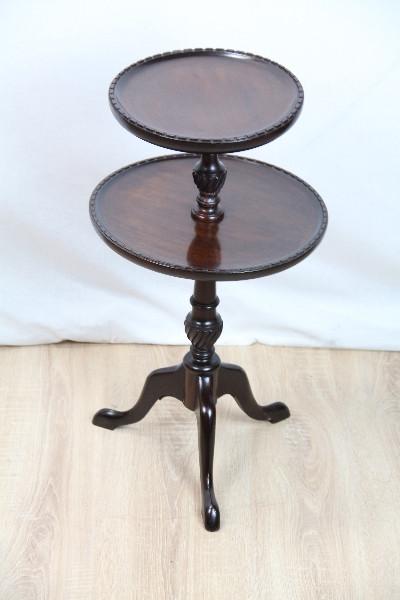 Weintische Tisch mit Etagen Mahagoni handpoliert