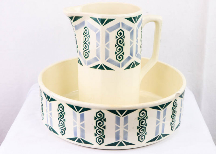 Ausgefallenes Vintage Jug and Bowl Set aus Keramik