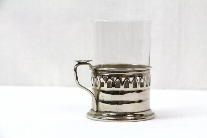 Teeglas mit filigraner Halterung victorian 1860