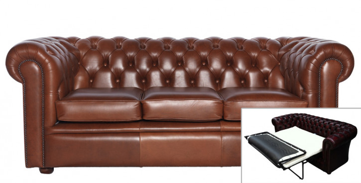 Chesterfield Schlafsofa William 3-Sitzer