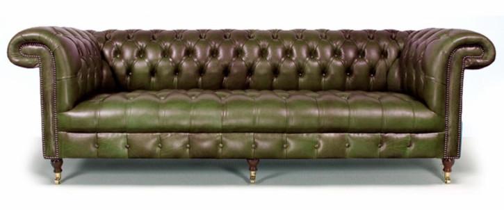 """Dalmellington"" Chesterfield Sofa Original englisches Ledersofa 2-Sitzer"