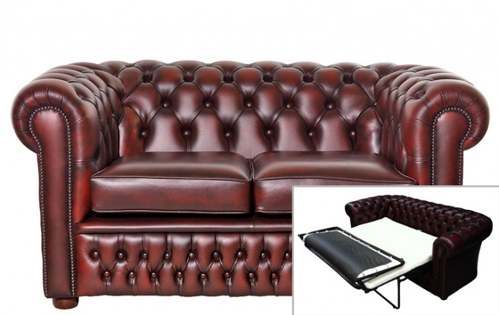 Chesterfield Schlafsofa London 2 Sitzer