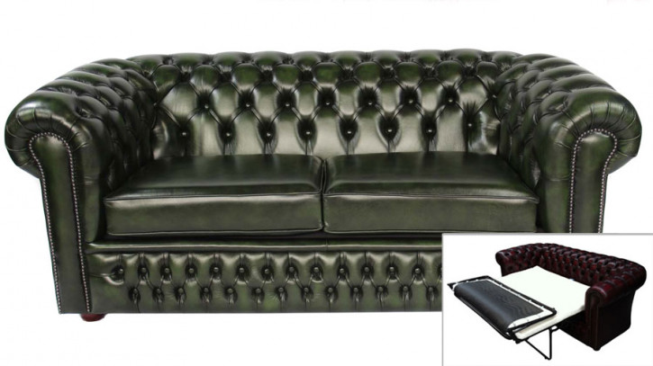 Chesterfield Schlafsofa London 3-Sitzer