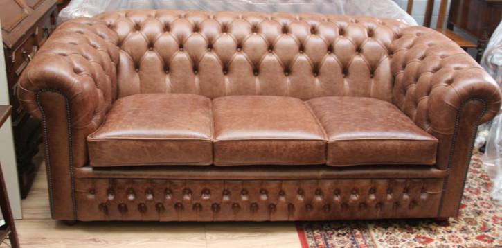 """London Classic"" Original Chesterfield Sofa 3-Sitzer"