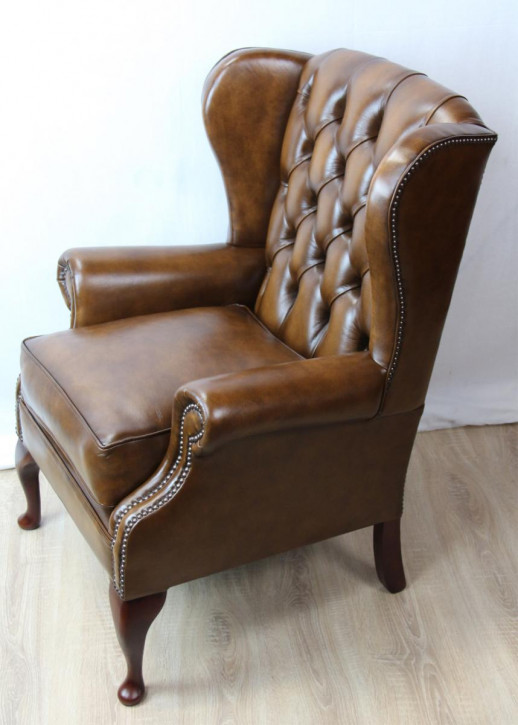 """Windsor Wing Chair"" Chesterfield Sessel Sofort Lieferbar"