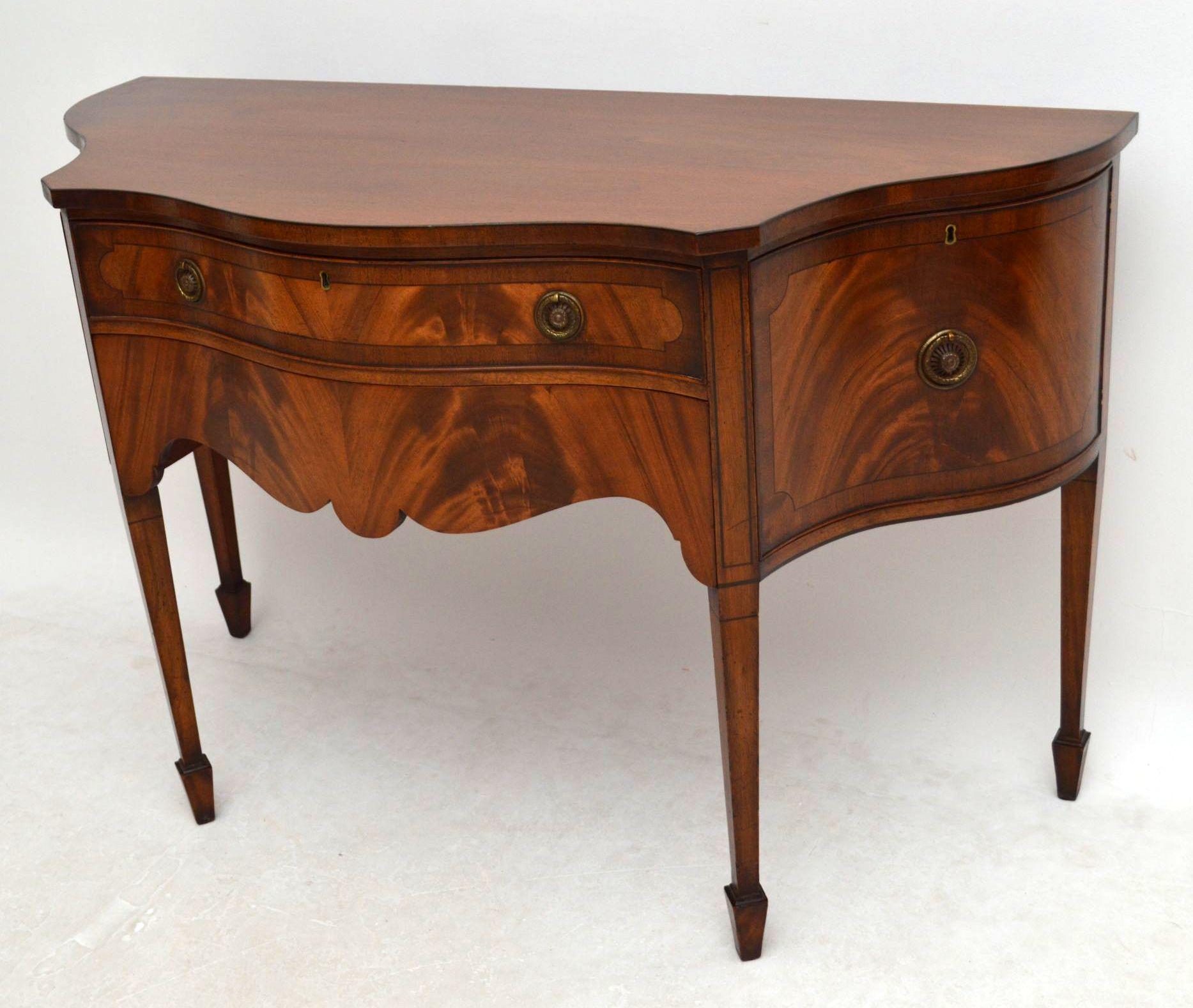 edwardian sideboard konsole tisch antik. Black Bedroom Furniture Sets. Home Design Ideas